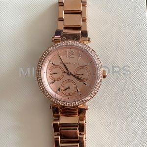 NWT Michael Kors Rose-gold Pavé Watch